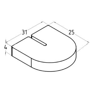 Комплект резинок для стекла 10 мм, арт. 005