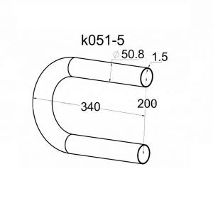 Окончание поручня пандуса 50,8 мм (AISI 304), арт. 051-5