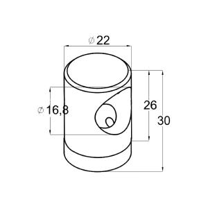 Ригеледержатель на плоскость под ригель Ø16 (AISI304), арт. 065