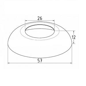 Декоративная крышка на стойку 25,4мм, Ø57мм (AISI304), арт. 331