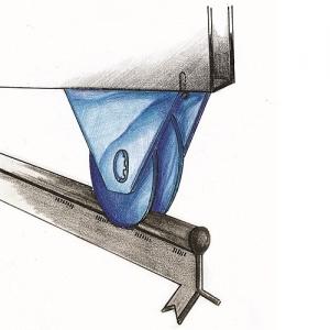 Колесо с опорным внешним кронштейном, арт.385050
