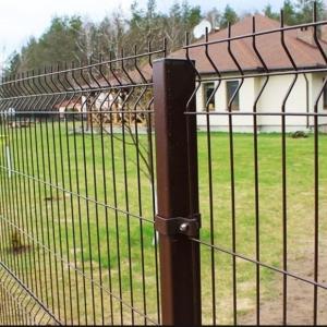 3Д забор коричневого цвета RAL 8017