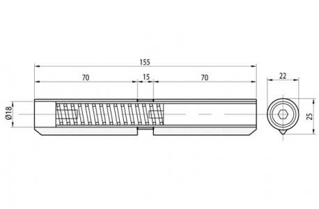 Комплект петель с доводчиком - внутренней пружиной IBFM Италия арт 415МKIT