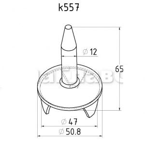 Держатель поручня на стойку 50,8мм, «палец» (AISI304), арт. 557