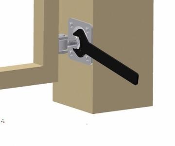 Петля регулируемая c пластиной крепления под прикручивание двумя винтами, арт. HP18O (CAME)