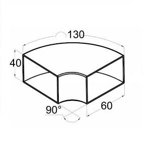 Отвод нержавеющий сварной для трубы 60х40 мм (AISI 304), арт. 675