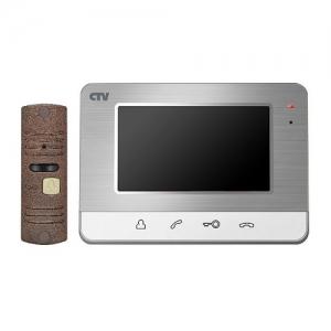 Видеодомофон CTV-DP401 рамка серебро