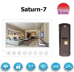 Комплект видеодомофона Saturn-7W