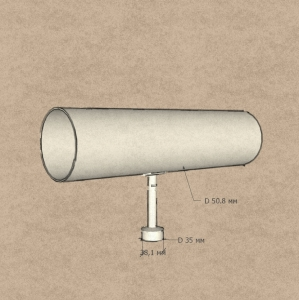 Держатель поручня на стойку 38,1 мм, с ложементом (AISI304), арт.006-2