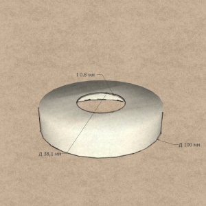 Декоративная крышка стойки Ø38,1мм, Ø86мм (AISI304), арт. К043