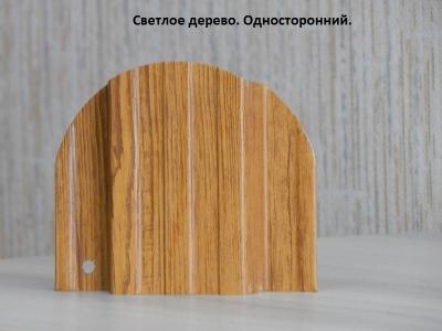 Металлический штакетник золотой дуб светлое дерево