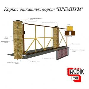 """Готовый каркас откатных ворот """"Правильный"""" - 9999P. Ворота с проездом до 5.2 метров, вес до 500 кг.,"""
