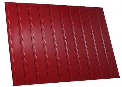 забор из профнастила 3005 вишневый красный