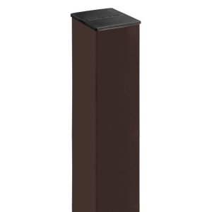 Столб из профильной трубы, цинк + полимер 8017