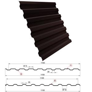 Металлопрофиль С20 1,8 метра 8017 шоколадно-коричневый