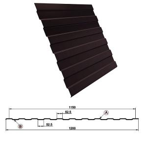 Профнастил С8 1,8 метра 8017 шоколадно-коричневый