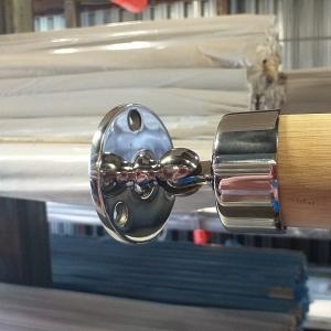 Фланец настенный с шарниром, для Ø50,8 мм (AISI304), литой, арт. к245