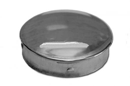 Заглушка нержавеющая антивандальная на поручень 50,8 мм, забивная (AISI 304), арт.014