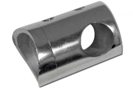 Ригеледержатель на стойку диаметром 38,1 мм под ригель 12 мм, полированный, (aisi 304), арт.029.