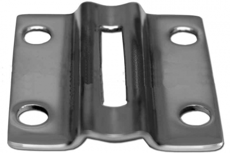 Торцевое крепление стойки Ø38,1 мм (AISI304), арт. 056-4