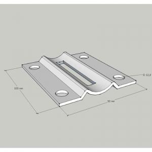 Торцевое крепление стойки Ø38,1 мм (AISI201), арт. 056