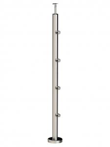 Круглая стойка из нержавеющей стали, 4 ригеледержателя, арт. 714