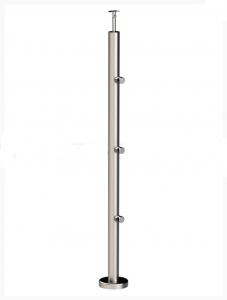 Готовая нержавеющая стойка для перил с тремя держателями арт 713