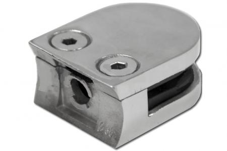 Стеклодержатель литой под стекло 8 мм на стойку трубу 38 мм, арт. 001-4