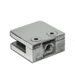 Стеклодержатель на плоскость, литой полированный (AISI304), арт.003