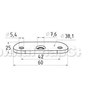 Ложемент полукруглый для крепления поручня 38,1мм (AISI304), арт. 046-38