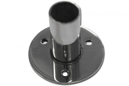 Закладная для стойки Ø38,1х1,5 мм, на 3 анкера (AISI201), арт. 232-2