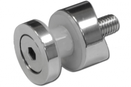 Стеклодержатель точечный под стойку (трубу) диаметром 38,1 мм (AISI 304), арт. 258