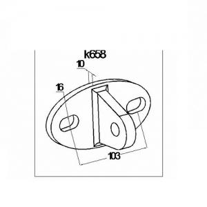 Крепление ванты (тяги) к стене (AISI304) АРТ. k658