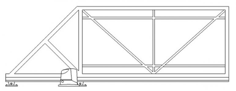 Готовый каркас рамка откатных сдвижных ворот купить недорого цена