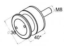 Стеклодержатель точечный для стекла 8-12 мм (AISI304), арт.084-2