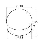 Заглушка сферическая Ø50,8 мм (AISI304), арт. 092