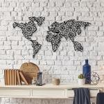 Декор настенный Карта мира - 640 x 1200 мм. арт.4.014
