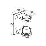 Кронштейн для крепления стойки в косоур (AISI201), арт. 339