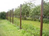 ЗД еврозабор коричневого цвета RAL 8017. Высота панели 1,7 метра. Ширина панели 2,5 метра.