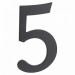 Цифра алюминиевая 5. Алюминий. Цвет графит. арт.64.155
