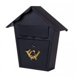 Ящик почтовый уличный черный. АРТ.65.212