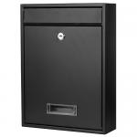 Ящик почтовый уличный черный. АРТ.65.257.1