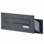 Ящик почтовый уличный встраиваемый цвет антрацит. АРТ.65.307