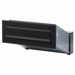 Ящик почтовый уличный встраиваемый черный. АРТ.65.326