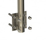 Готовая стойка с держателем поручня и боковым крепежом (AISI304), арт. 704