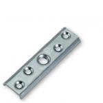 Пластина металлическая фиксирующая для тележки подвесных ворот. АРТ.782