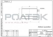 Петля оцинкованная нижняя опорная для тяжелых ворот D68 РОЛТЭК (РФ), арт 888