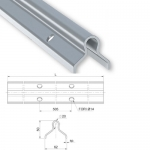 Монорельс для сдвижных ворот на колесе профиль O под цементирование. 904.16x3-sp3