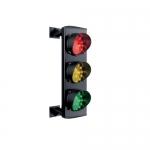 Трехцветный светодиодный светофор серии Apollo. арт.ASF25L3GRV (Красный/Желтый/Зеленый)