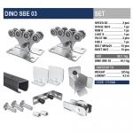 Комплект для откатных ворот DINO SBE 03 с черной шиной.